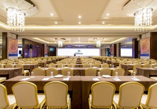 fotografia de interiores en panama - Conference hall, Hilton Hotel, Panama city