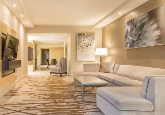fotografia de interiores en panama - Living room interiors, Hilton hotel, Panama city