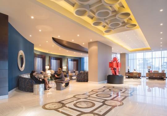 fotografia de arquitectura en panama - Entry lobby, Hilton Hotel, Panama city