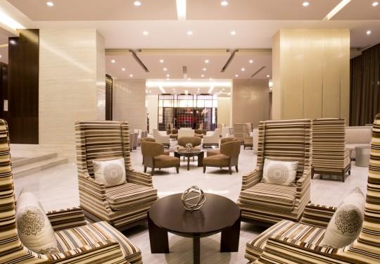 fotografo de interiores en panama - Lobby, Hilton Hotel, Panama city