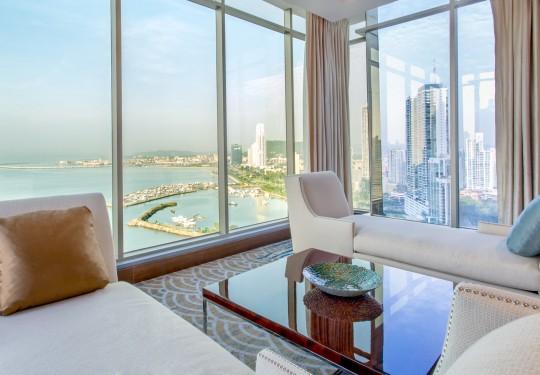 fotografo de interiores en panama - Ocean view suite, Hilton hotel, Panama city